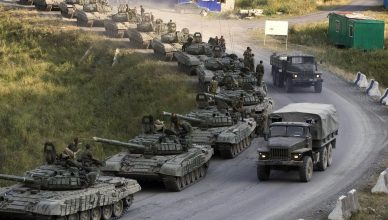 russian tanks in large drill