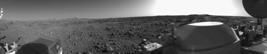 mars viking panoramic photo